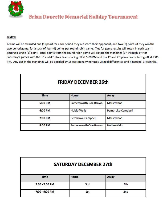 Brian Doucette Memorial Christmas Tournament